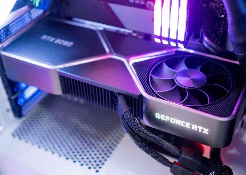 RTX 3080 violet light