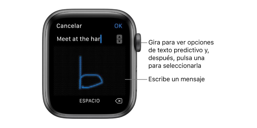 Answer by hand Apple Watch