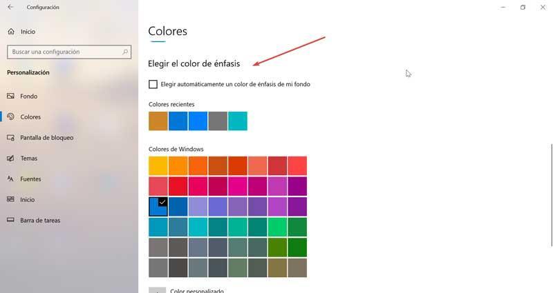 Choose accent color