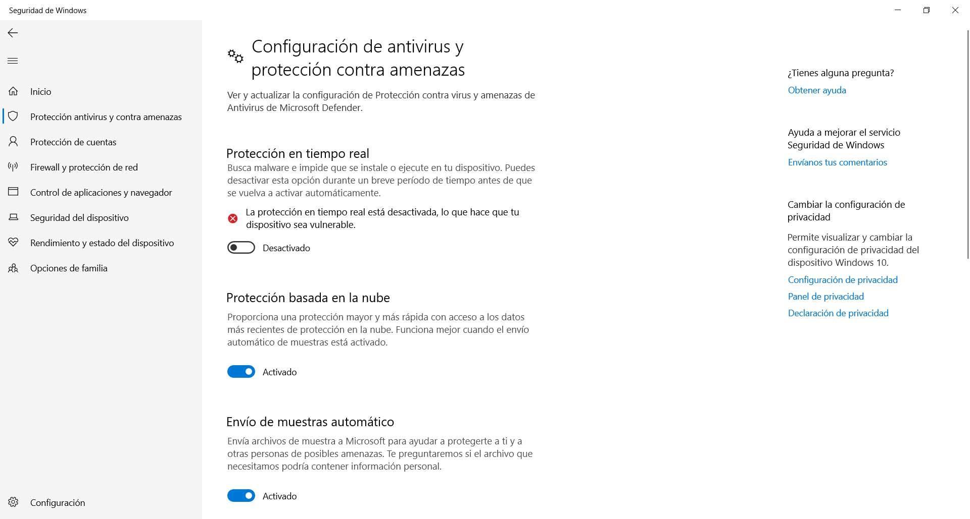 Restart Windows Defender to avoid error 0x800700