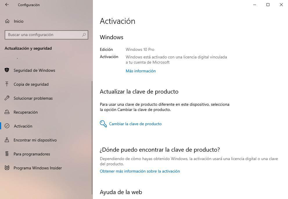 Windows 10 key activation