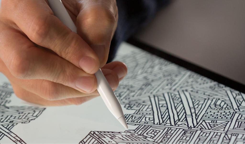 Apple Pencil on iPad