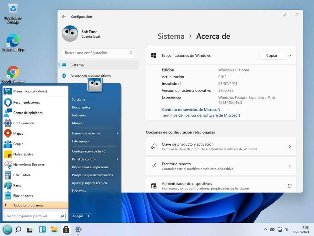 Windows 7 Start Menu in Windows 11