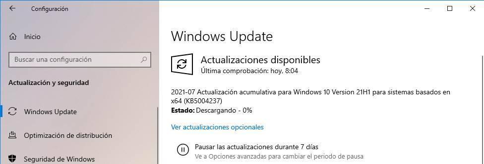 KB5004237 Windows Patch