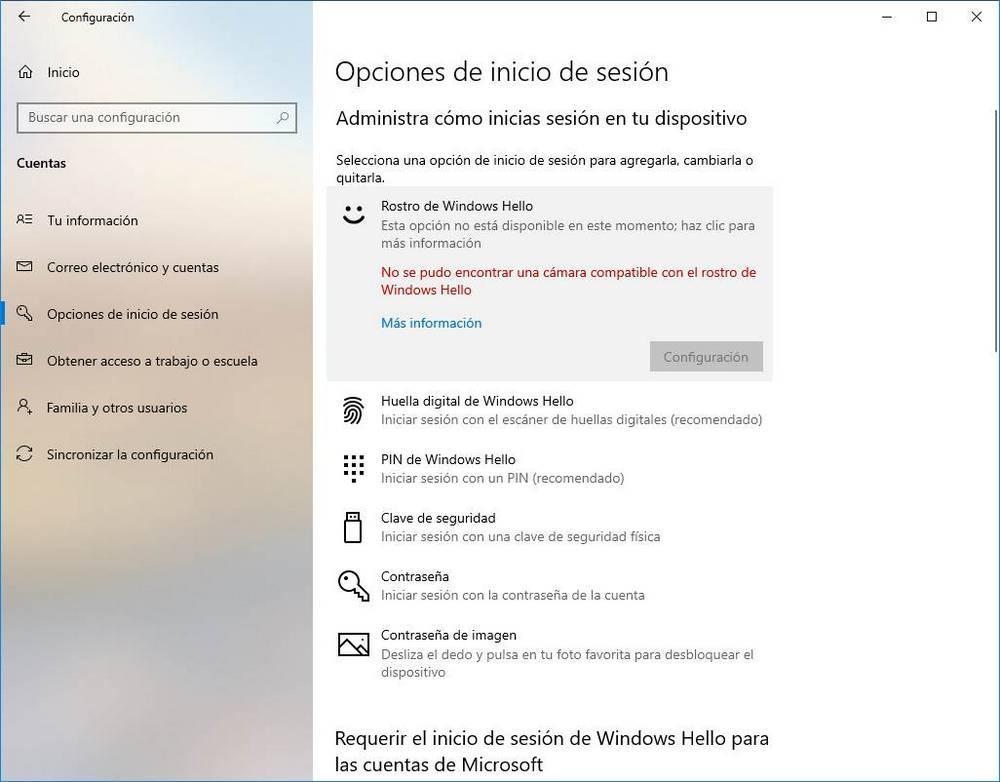 Set up Windows Hello - Webcam 1