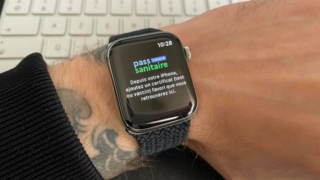 The TousAntiCovid app on Apple Watch