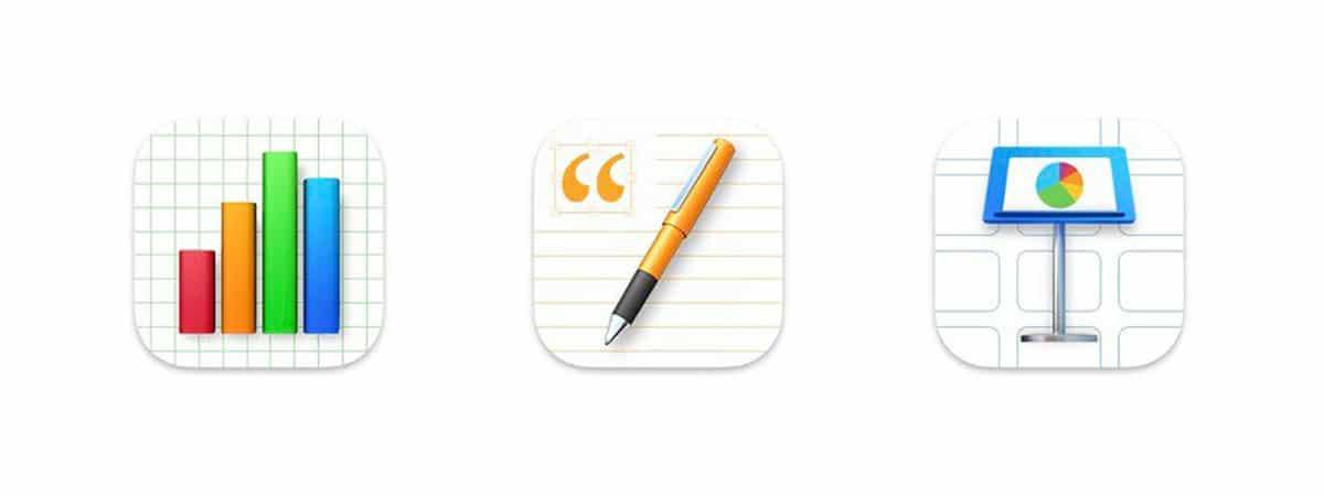 iWork macOS Big Sur icons