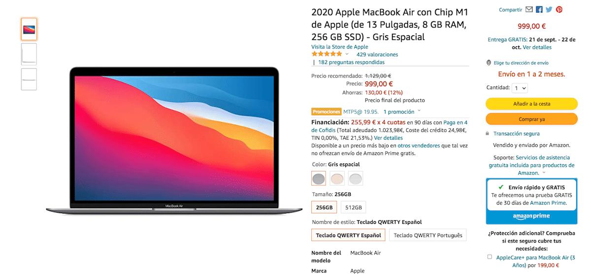 MacBook Air 999 euros