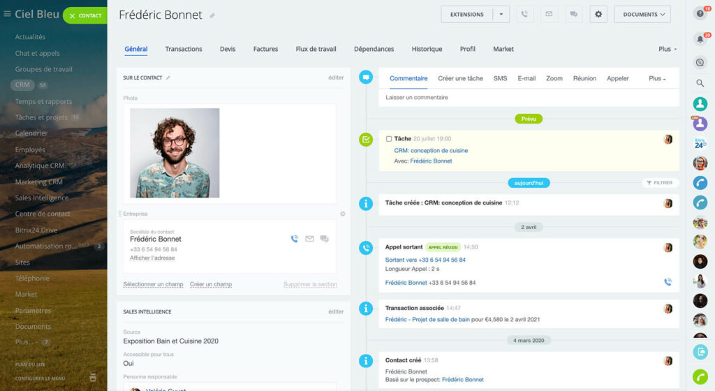 bitrix24 crm interface