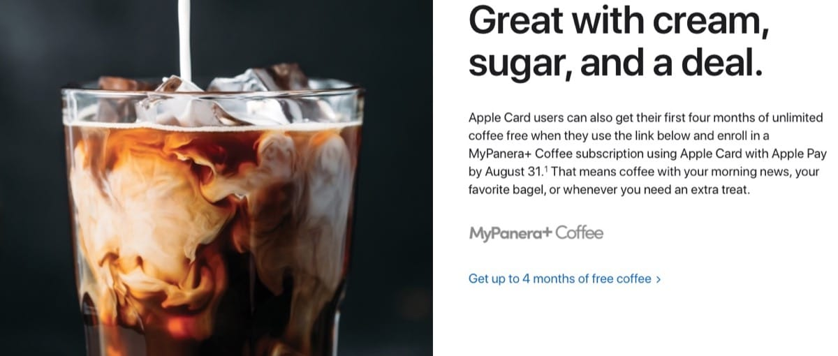Panera Apple Card