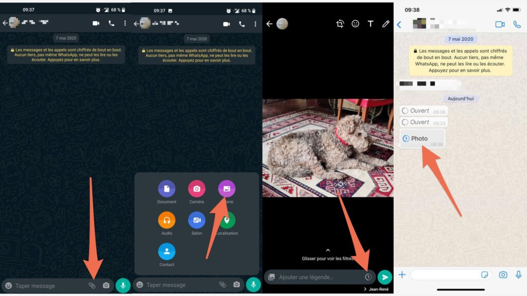 How to send an ephemeral message on WhatsApp