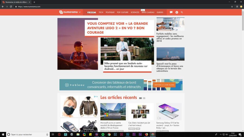 Numerama private browsing Chrome