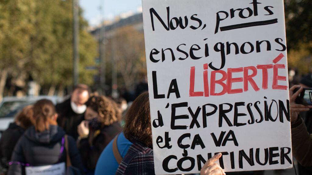 France freedom expression demonstration