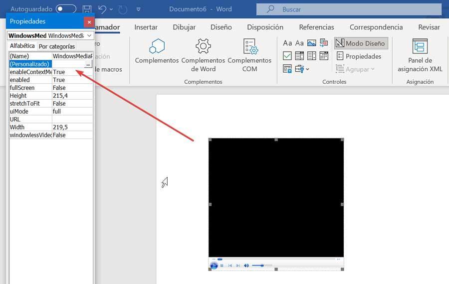 Word Windows Media Player Properties