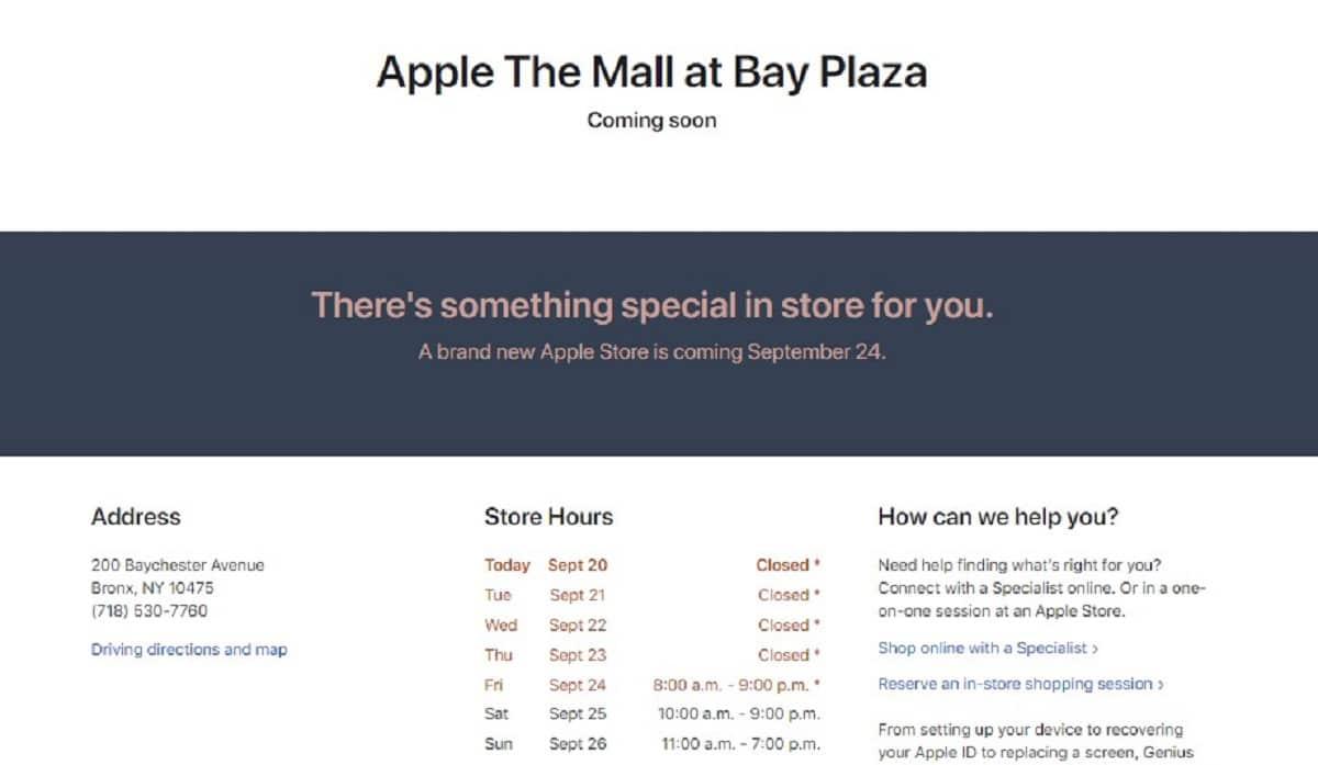 Apple Store Bronx New York