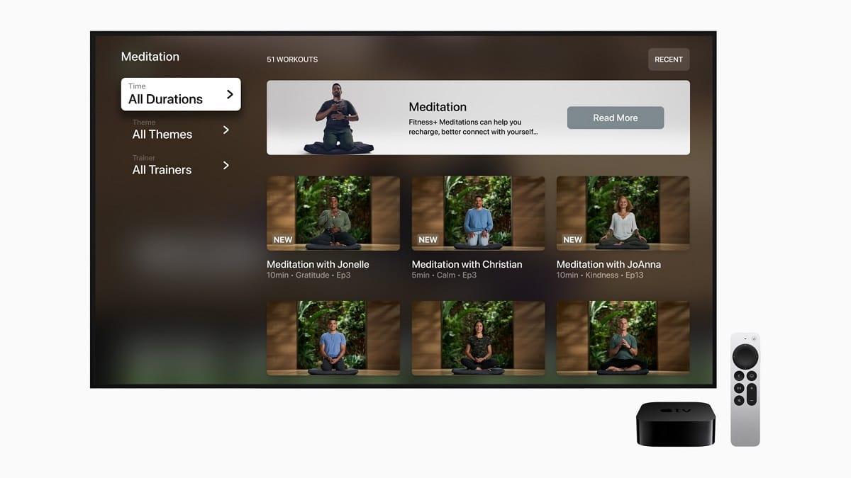 Meditation at Apple Fitness +