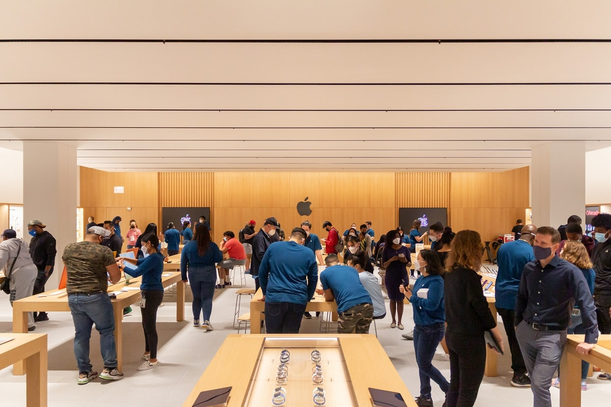 The new Apple Store in NY has a permanent product collection area