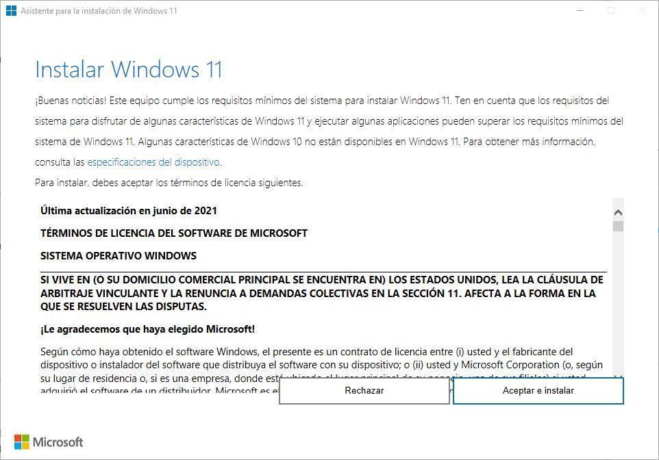 Windows 11 update wizard