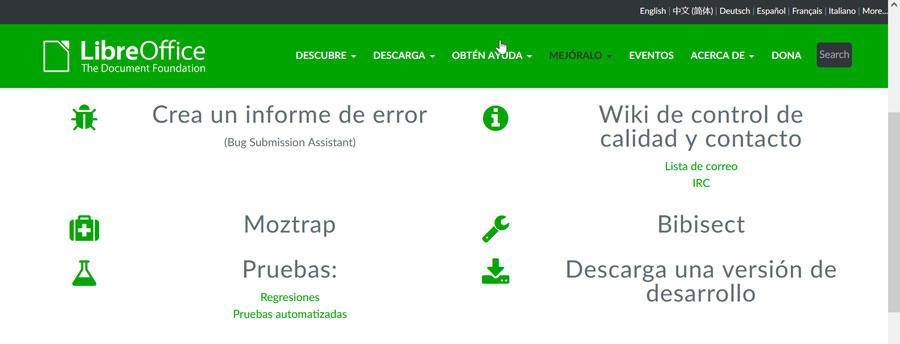 LibreOffice quality control