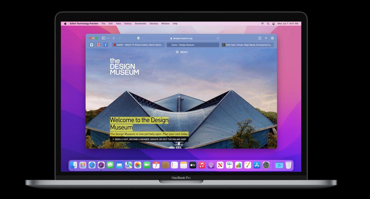Safari 15 on macOS
